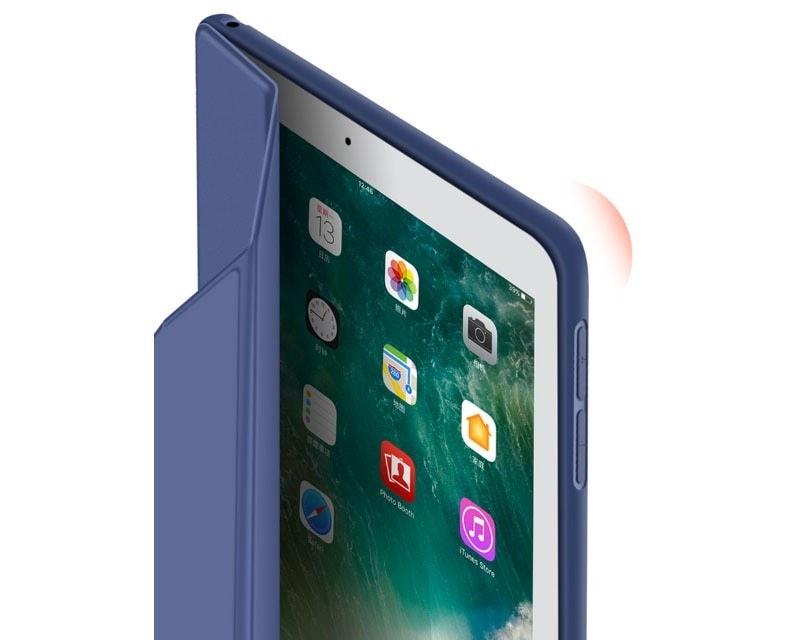 e8cd94f5816a Apple iPad 9.7 2017/2018 mágneses hajtogatós bőrbevonatos szilikon tok ...