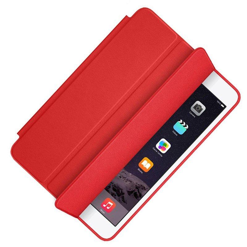 78650313bb20 Apple iPad 9.7 2017/2018 mágneses hajtogatós bőrbevonatos tok - piros -  Apple Style