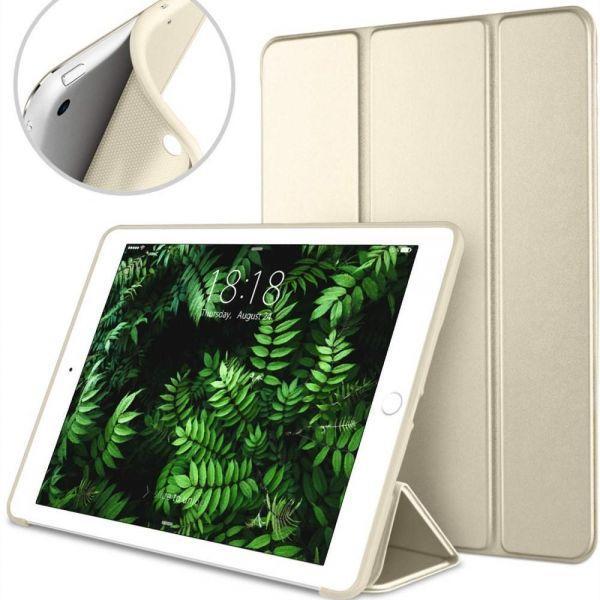 da6b097b454b Apple iPad Air /iPad 5 mágneses hajtogatós bőrbevonatos szilikon tok – arany